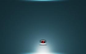 Обои свет, фон, надпись, подсветка, сенсор