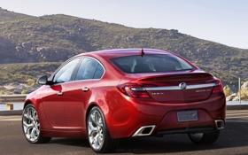 Обои красный, автомобиль, задок, Buick, Regal