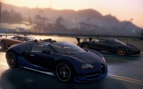 Картинка дорога, гонка, McLaren, спорткары, Zonda R, need for speed most wanted 2012, Veyron Grand Sport ...