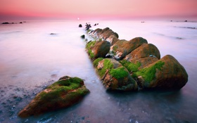 Картинка море, выдержка, Испания, Баррика