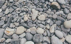 Обои камни, галька, много