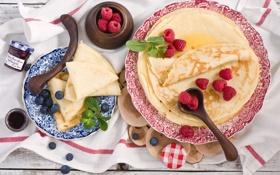 Обои еда, фрукты, блины, десерт, pancakes, Anna Verdina