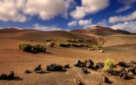 Обои песок, камни, Испания, пустыня, холмы