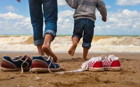 Обои sea, games, fun, child, parent