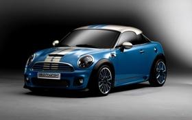 Картинка car, concept, blue, mini cooper