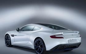 Картинка задок, Vanquish Q, астон мартин, фон, Aston Martin, машина