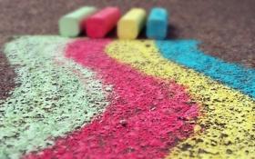 Картинка улица, цвет, мел