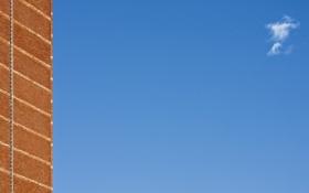Картинка небо, стена, минимализм, облако