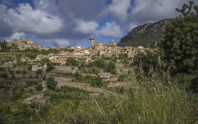 Обои пейзаж, здания, панорама, Испания, Spain, Mallorca, Мальорка