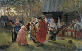 Картинка живопись, Коржухин, сватовство