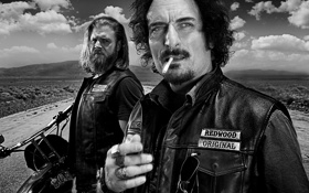 Обои байкеры, сериал, sons of anarchy, дети анархии