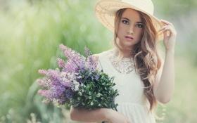 Картинка девушка, шляпка, Noemi Hopper