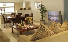Обои дизайн, дом, стиль, интерьер, квартира, жилая комната