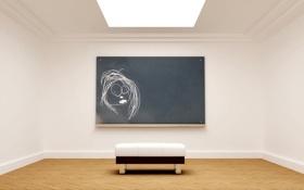 Обои скамейка, дизайн, стиль, комната, обои, стены, рисунок