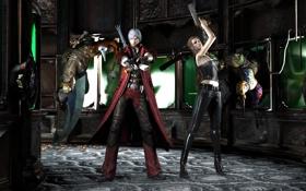 Обои demon, Dante, Devil May Cry, Trish