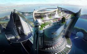 Картинка Город, Будущее, 3-D