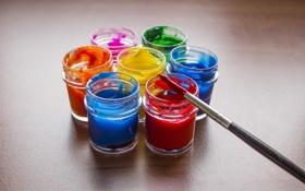 Обои краски, цвет, кисть, композиция