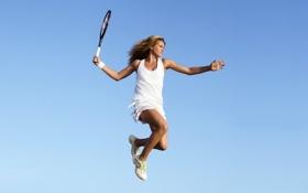 Картинка прыжок, теннис, мария кириленко