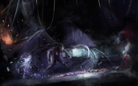 Обои девушка, злость, крылья, kerrigan, starcraft 2