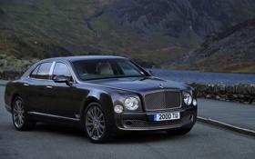 Обои Авто, Bentley, Седан, Фары, Люкс, Передок, Mulsanne