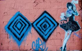 Картинка город, стена, графити