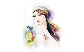 Обои взгляд, духи, макияж, бант, платок, элегантность, Tatiana Nikitina