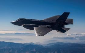 Картинка истребитель, бомбардировщик, Lightning II, F-35