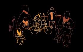 Обои фон, люди, чёрный, обои, минимализм, арт, действия