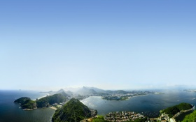 Картинка острова, океан, рио
