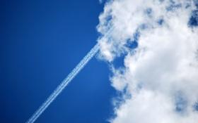 Обои небо, облака, пейзажи, фотографии, самолёты