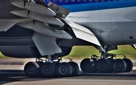 Картинка Boeing, шасси, 777, авиалайнер