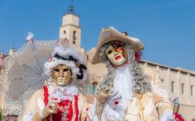 Обои Франция, маски, наряд, Мартиг, карнавар