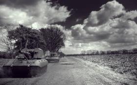 Обои облака, Германия, арт, танки, артиллерия, САУ, WoT