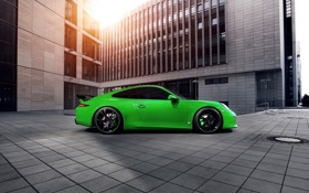 Картинка тюнинг, порше, techart, porsche 911 carrera 4s
