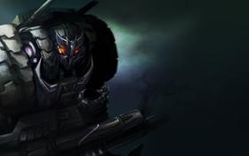 Картинка оружие, фон, робот, арт, Transformers