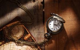 Картинка время, стрелки, часы, циферблат, цепочка, подвеска