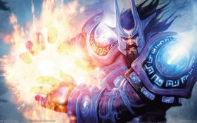 Картинка магия, доспехи, воин, ярость, WoW, World of Warcraft