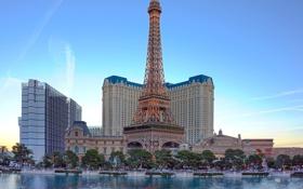 Обои небо, башня, дома, Лас-Вегас, США, казино