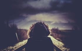 Картинка путь, человек, рельсы