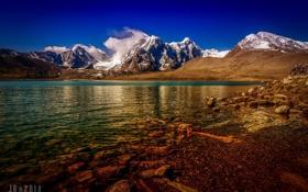 Обои горы, природа, озеро, Китай, Тибет