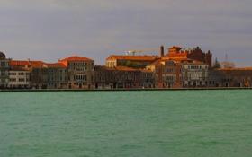 Картинка город, побережье, дома, Венеция, фото, Италия