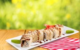 Обои роллы, sushi, суши, seafood, japanese