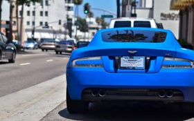 Обои Aston Martin, DB9, Blue, Matte