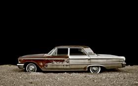 Обои тачки, старый, ford, форд, чёрный фон, cars, auto wallpapers