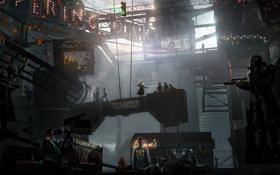 Обои город, фантастика, Fallout, art, поселение, 101