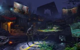 Картинка survivor, hiker, post apocalyptic cities