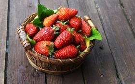Обои fresh berries, клубника, корзина, strawberry, ягоды