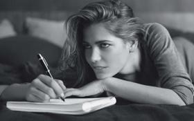 Картинка мысли, тетрадь, авторучка, Silvia Ranguelova