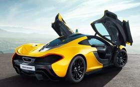 Картинка обои, McLaren, двери, автомобиль, задок, McLaren P1