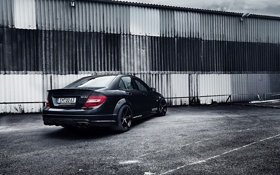 Обои Mercedes-Benz, AMG, Black, Tuning, C63, work